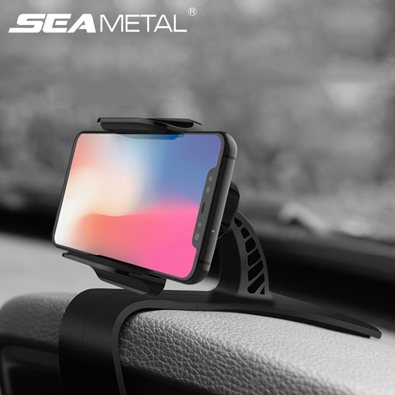 Dashboard Car Phone Holder GPS Navigation Support Smartphone Mount Stand Clip On Dashboard Mobile Phones Holder Auto Accessories-in Universal Car Bracket from Automobiles & Motorcycles