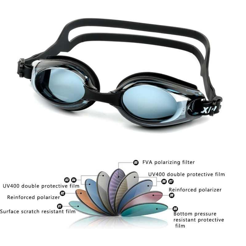 c7d9ae252b ... Adult Prescription Optical Myopia Swimming Goggles Swim Silicone Anti-fog  Coated Water diopter Swimming Eyewear ...
