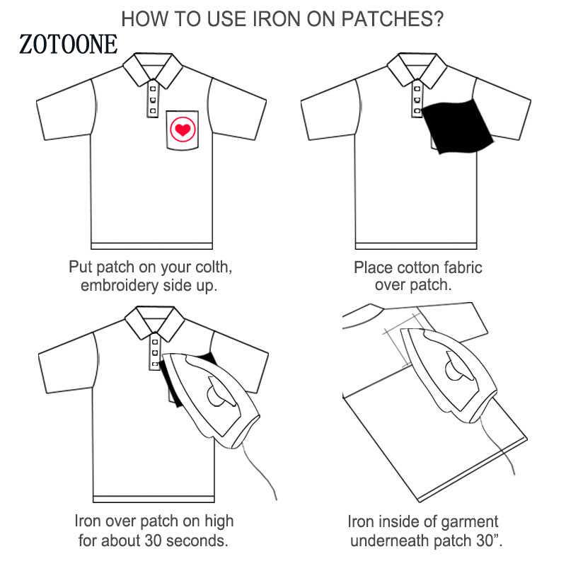ZOTOONE Animale Sveglio Patch per Abbigliamento Ferro sul Cucito Ricamato Applique Toppe e Stemmi Cucire su Tessuto Distintivo FAI DA TE Accessori di Abbigliamento G