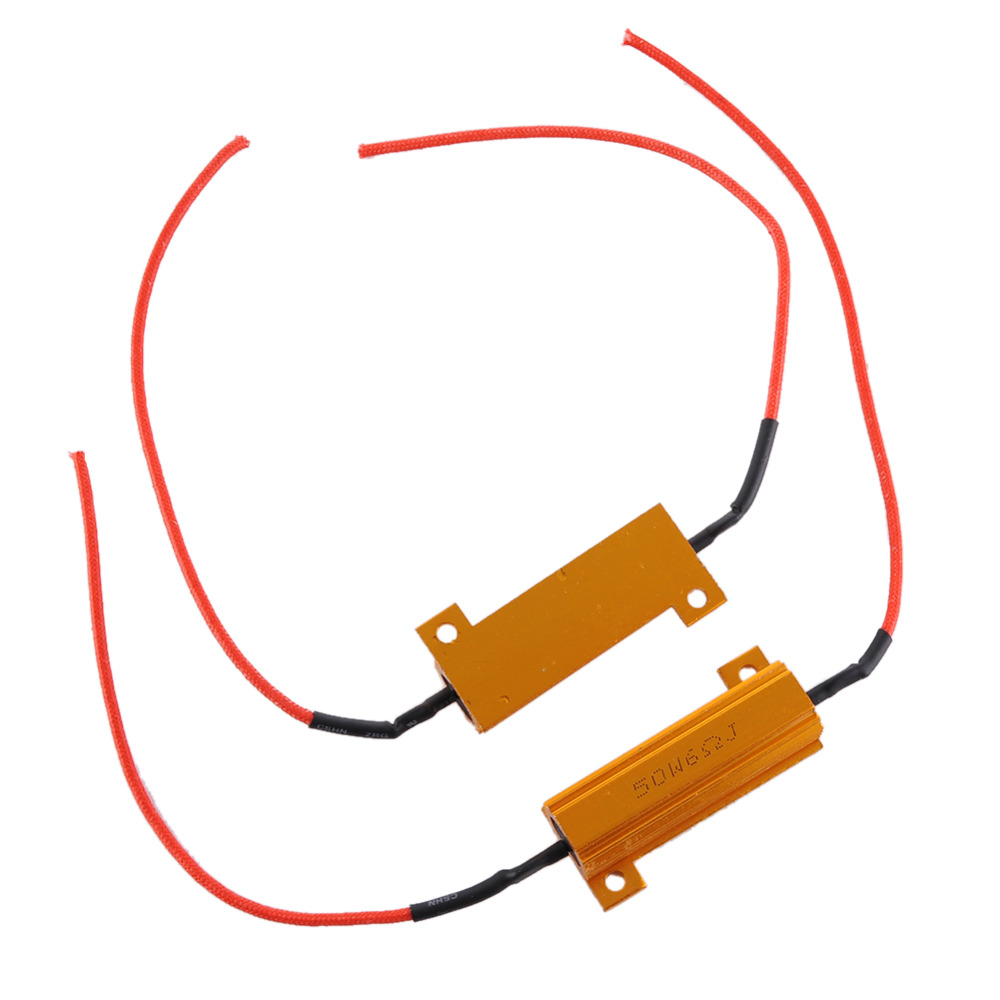 2PCS 50W LED Bulb Load Resistor Signal Flash Controller Signal LED ...