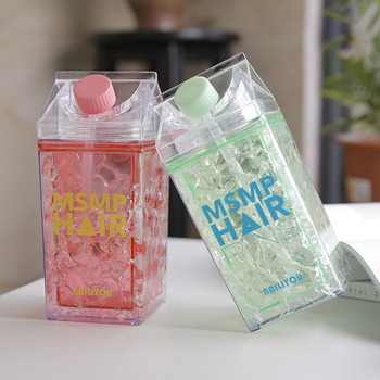 Milk Box Creative Plastic Water Bottle