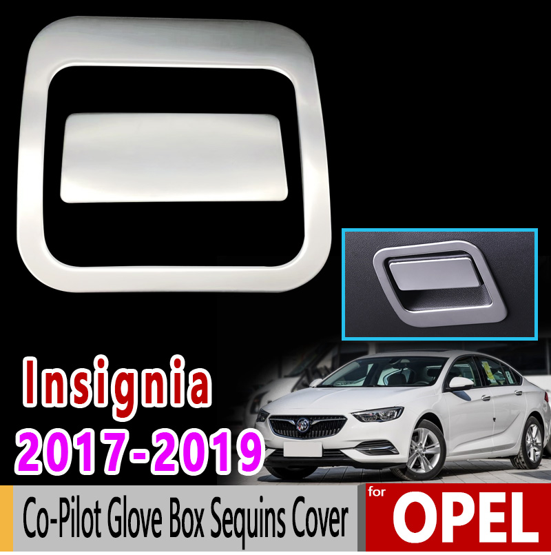 for Opel Insignia B MK2 Vauxhall Holden Commodore 2017-2019 Co-Pilot Glove Box Sequins Cover Accessories Car Sticke
