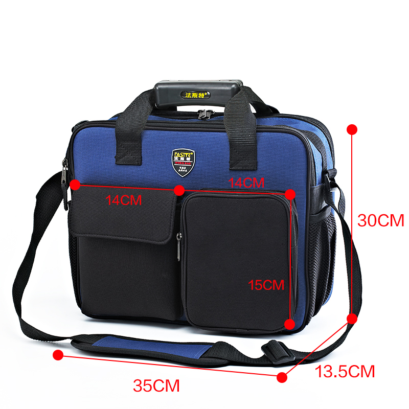 FASITE Genuine Multi-function Portable Shoulder Repair Kit Pouch Tool Bag/Case Blue