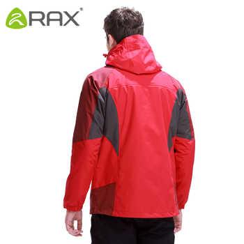 RAX Hiking Jackets Men Softshell Jacket Waterproof Windproof Hiking Jacket 3 in 1 Outdoor Windbreaker Warm Women Coat 43-1A039