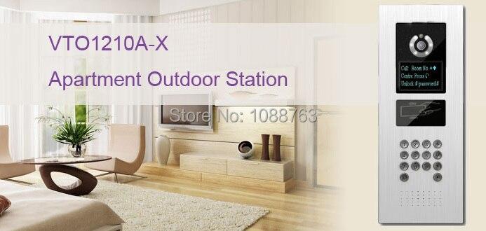 Free Shipping Video Intercom DAHUA Video Door Phone Building intercom Apartment Outdoor Station System Without Logo VTO1210A-X