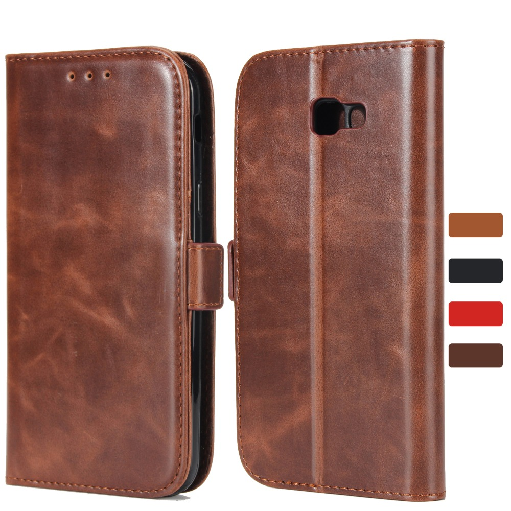 Leather Wallet Case for Samsung Galaxy A3 A5 A7 2016 2017 A8 2018 A8 Plus Magnetic