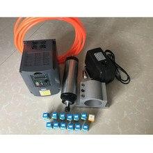 RU доставки! 2.2KW с водяным охлаждением двигателя шпинделя + 2.2KW/220 В Инвертор + 80 мм зажим + водяной насос + 5 м водопроводные трубы + ER20 цанговый
