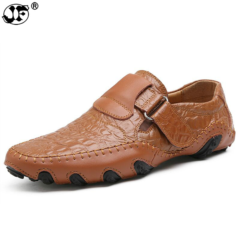 New Comfortable Casual Shoes Loafers Men Shoes Quality Handmade Genuine Leather Shoes Men Flats Moccasins Shoes442 lozoga 2018 men leather shoes handmade moccasins genuine cow leather men loafers design slip on comfortable peas shoes men flats
