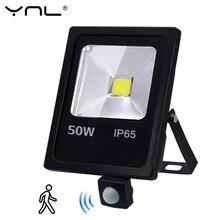 Движения Сенсор Светодиодный прожектор светильник 50 Вт 30 Вт 10 Вт AC 220V Водонепроницаемый IP65 отражатель светильник foco светодиодный внешний пятно открытый светильник