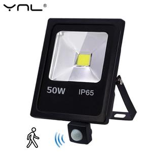 Image 1 - Motion Sensor LED Flood Light 50W 30W 10W AC 220V Waterproof IP65 Reflector Floodlight Lamp foco Led Exterior Spot Outdoor Light