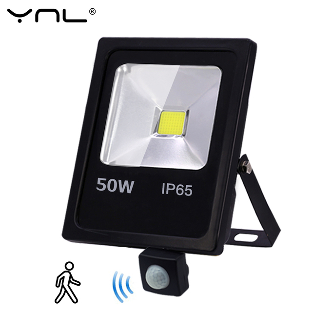 Motion Sensor LED Flood Light 50W 30W 10W AC 220V Waterproof IP65 Reflector Floodlight Lamp foco Led Exterior Spot Outdoor Light