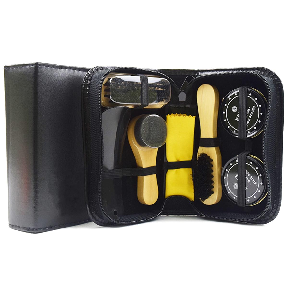 7-pc. Leather Shoe Shine Kit dVqSPVEZ