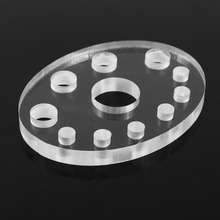 11 Holes Oval Acrylic Tattoo Permanent Makeup Microblading Pigment Cup Cap Stand Ink Holder HOT