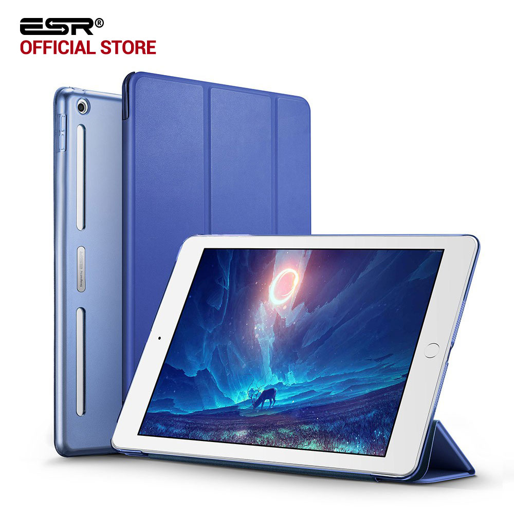 Case for iPad 9.7 2017, ESR PU Leather Front Cover+Soft TPU Bumper Edge+PC Back Auto Sleep Smart case for New iPad 2017 Release nice soft silicone back magnetic smart pu leather case for apple 2017 ipad air 1 cover new slim thin flip tpu protective case