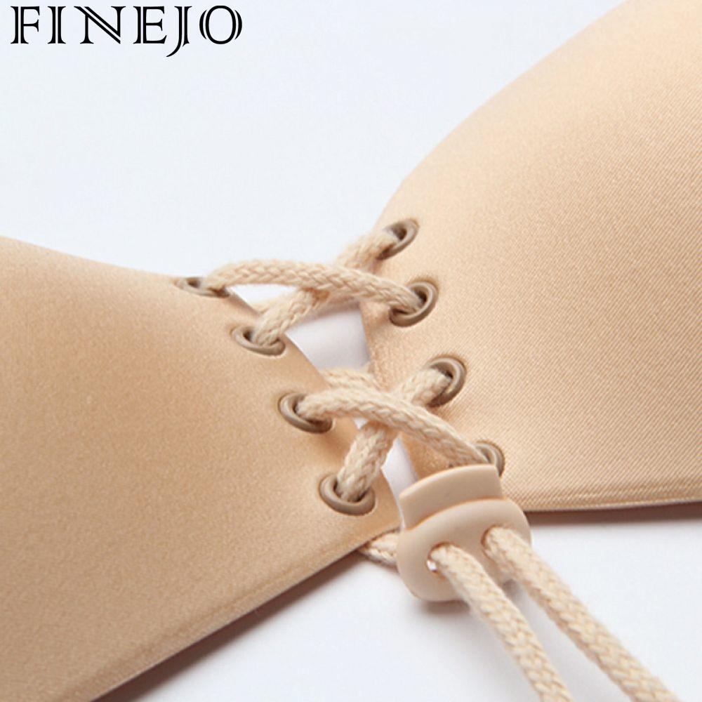 8e7da6085208c FINEJO Women String Wedding Strapless Underwear Women Bras LB Self Adhesive  Bra Invisible Sexy Seamless Sticky Lingerie Fly Hot-in Bras from Underwear  ...