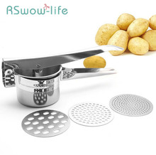 Creative Kitchen Gadget Three-in-one Stainless Steel Potato Machine Manual Juicer For Gadgets And Accessories