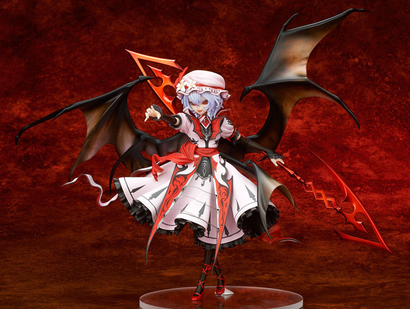 ФОТО 1pcs Touhou Project Remilia Scarlet Red Magic Legend.ver action pvc figure toy tall 23cm hot sell.