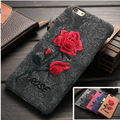 New Arrival Chic Rose Embroidery Cover For Coque Samsung S6 Edge Note5 Elegant Art Handmade Flower for S6 Edge Note 5 Phone Case