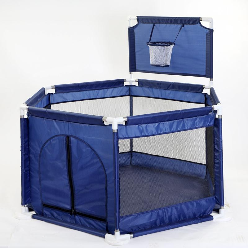 Image 5 - Baby Playpen Portable Plastic Fencing For Children Folding Safety Fence Barriers For Ball Pool For Child Travel Basketball hoop-in Baby Playpens from Mother & Kids