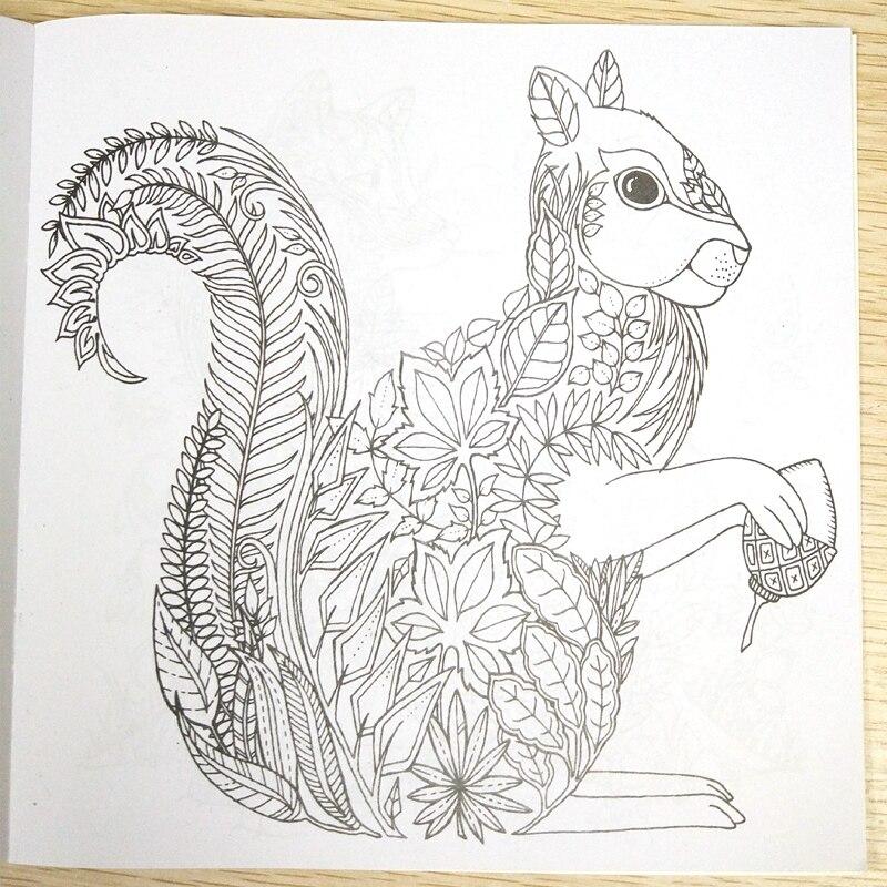 Best Deal 24 Sayfa Boyama Kitabı Enchanted Orman çocuk Kitapları