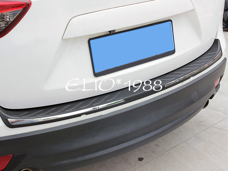 Outer Rear Bumper Protector Guard Plate 1pcs for Mazda CX-5 CX5 2012-2016 1 stainless steel rear trunk sill rear bumper protector plate cover trim for mazda cx 5 cx5 2nd gen 2017 2018 accessories