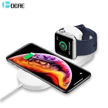 DCAE 10 W Nhanh Sạc Pad Qi Sạc Không Dây cho Của Apple xem 4 3 2 Cho iPhone XS Max XR X 8 Cộng Với Đối Với Samsung S9 S8 Cộng Với lưu ý 9