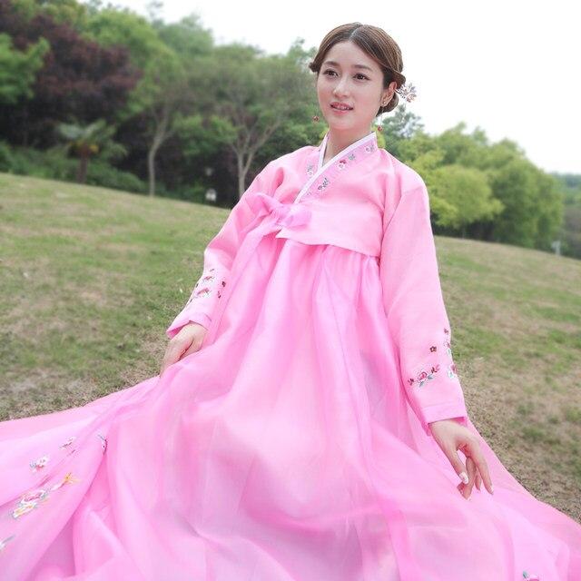 Tienda Online Nueva marca tradicional coreano hanbok Vestidos Asia ...