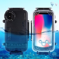 For iPhone X 40m/130ft Professional Waterproof Diving Protective Housing Photo Video Underwater Cover for iPhone 7 8 Plus Case