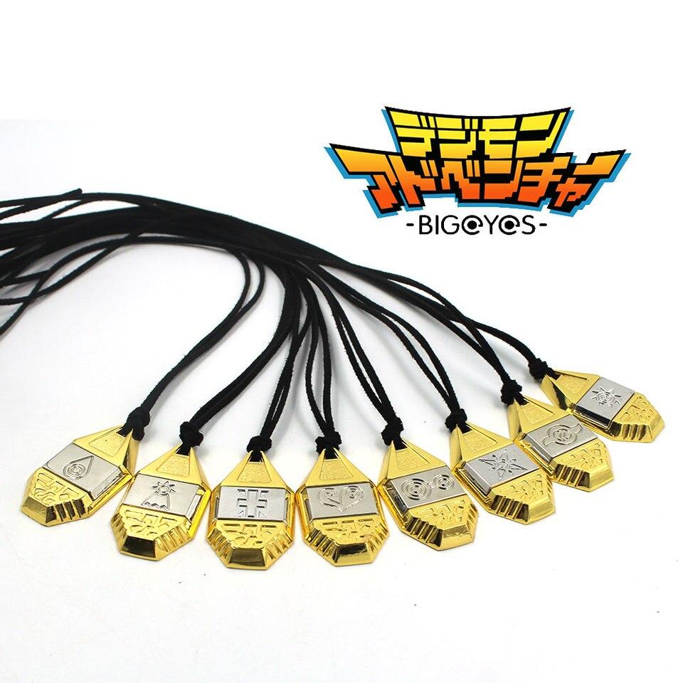 Ohcomics Anime Digimon Digital Monster Evolution Badge Golden Hope Brave Metal Cortical Necklace Costume Accessory Pendant Decor Aliexpress