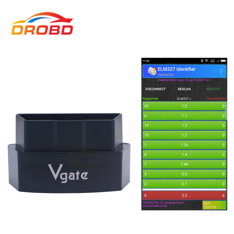 New Arrival Vgate iCar3 Bluetooth 3.0 OBDII OBD2 ELM327 iCar 3 Bluetooth Diagnostic Interface For Android /PC Support Update