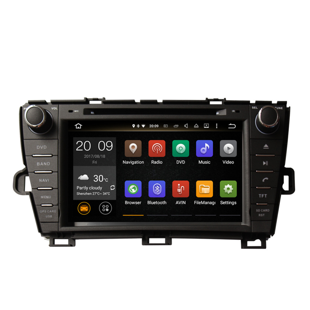 Best Android 8.0 Octa Core 4GB RAM Car Radio Stereo GPS Navigation For Toyota Prius 2009- Left Hand Driving DVD Multimedia Player 3