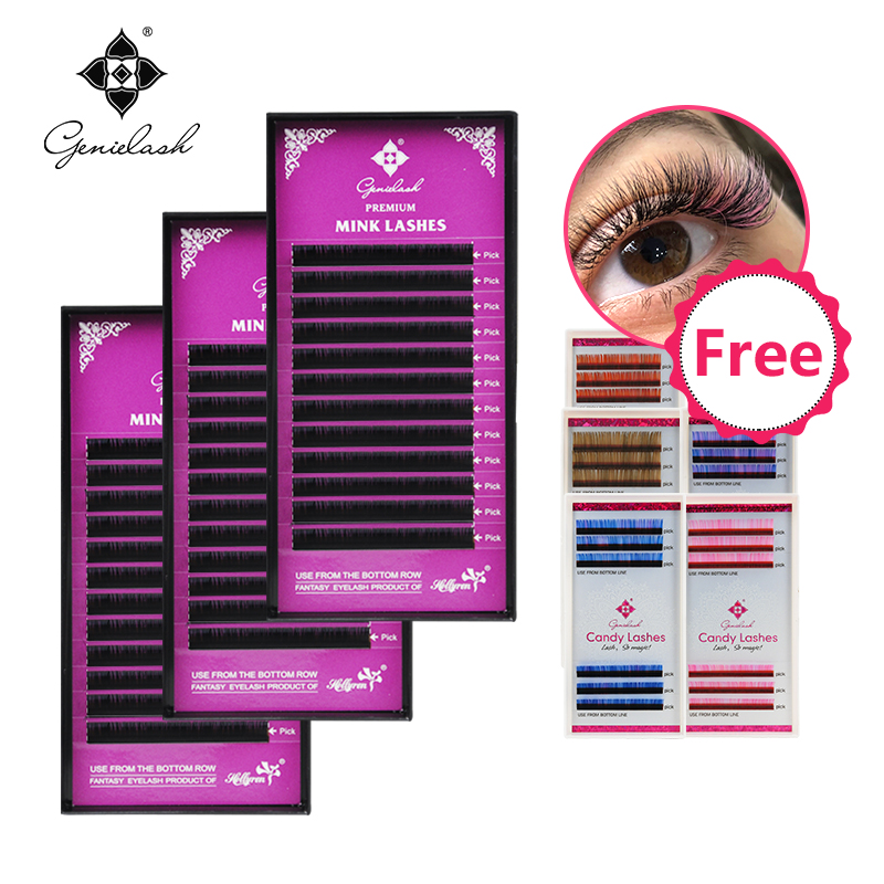 cdf4f388d69 Genielash volume eyelash extensions Buy 3 get 1 candy lash for free  individual lashes