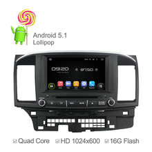 1024X600 Capacitiva Quad Core Android 5.1 GPS de Radio para Mitsubishi Lancer 2014 2015 Stereo Headunit Wifi Incorporado 16 GB Nand