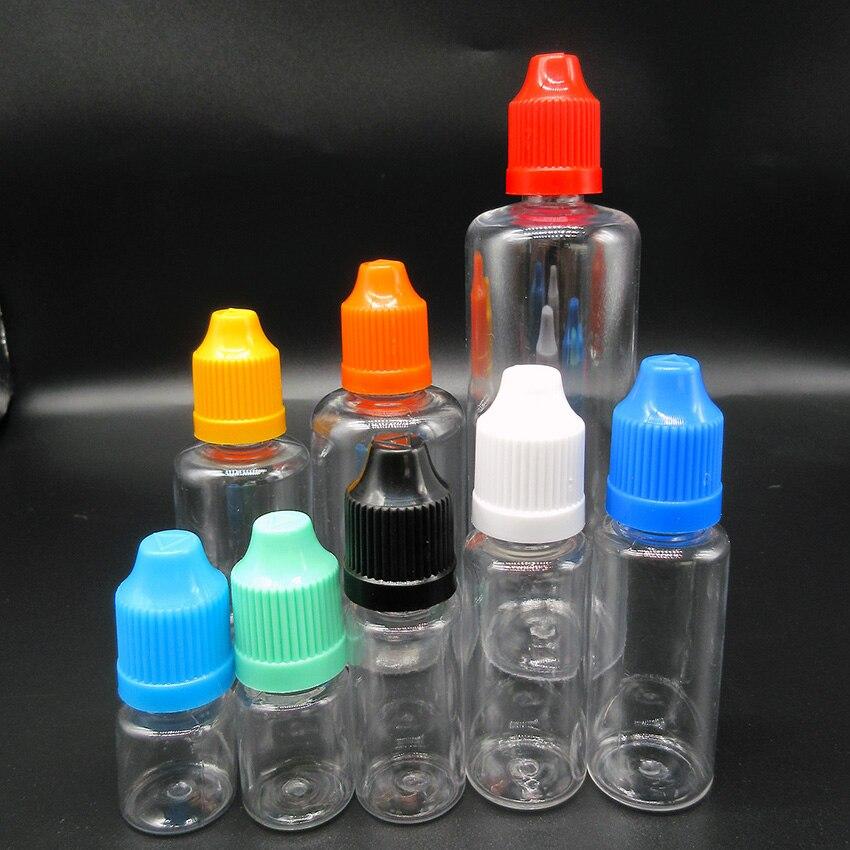 10pcs Large Capacity Oil Bottle,100ml Pet Transparent Empty Refillable Dropper Bottle With Long Thin Tip,Children Safty Cap