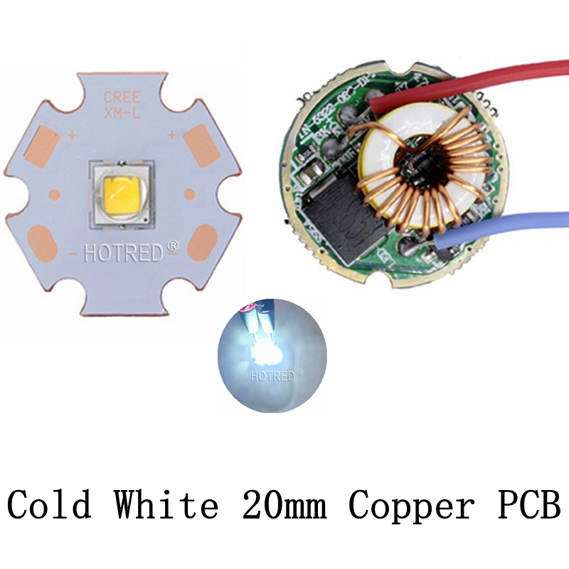 Cree XML2 XM-L2 T6 10W High Power LED Emitter Cool White Neutral White Warm White 20mm Black or White PCB + Input12V 2.8A Driver