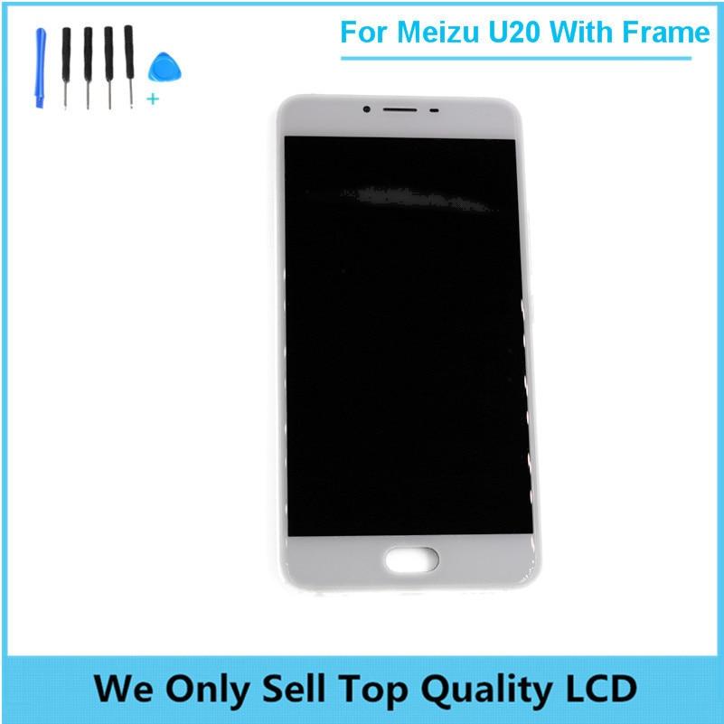 Pour Meizu U20 LCD Display + Écran Tactile Digitizer Assemblée remplacement De Réparation Accessoires pour Meizu U20 Lcd avec Cadre + outils