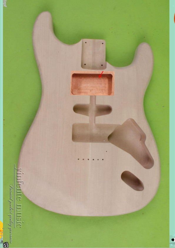 New Solid Body DIY unfinished electric guitar Body Replace mahogany Unfinished HHS OR SSH цена