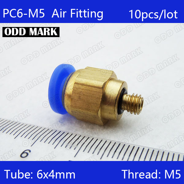 Free shipping high quality 10pcs 6mm to M5 Pneumatic Connectors male straight one-touch fittings PC6-M5 free shipping 10pcs pneumatic fitting push in quick connector fittings pc6 01 pc6 02 pc8 01 pc8 02 pc4 m5 pc4 01 pc10 02 pc10 03
