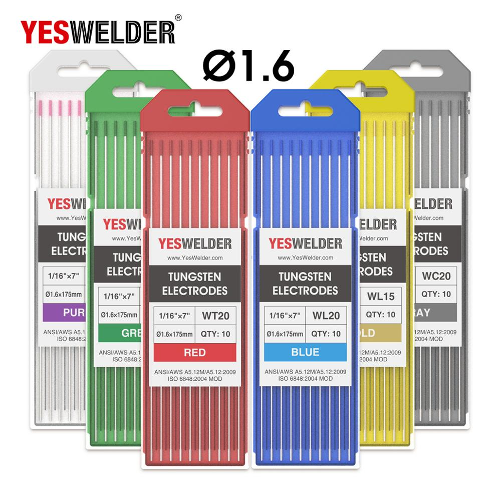 YESWELDER Tungsten Electrode Professional TIG Rods 1.0 1.6 2.4 3.2 4.0mm For TIG Welding Machine
