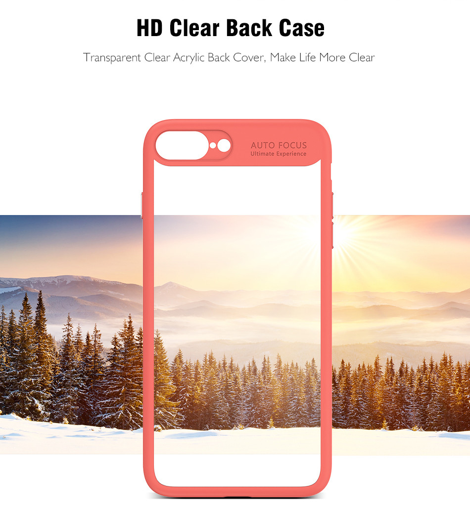 Ultra Thin Phone Case For iPhone 7 6S 6 Plus High Clear Acrylic Soft TPU YYF (6)