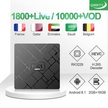 QHDTV IPTV Subscription HK1mini IP TV Box French Arabic Smart TV Box Belgium Qatar 1 Year IPTV France Italy QHDTV Code IPTV UK iptv france qatar t95x2 ip tv box qhdtv french arabic iptv s905x2 android tv box 4k 2g 16g 1 year qhdtv code iptv subscription