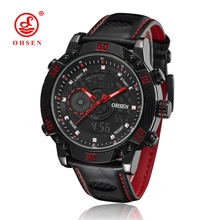 OHSEN Relogio Masculino Original De Marca Watches Men Luxury Brand Quartz watch For Men Military Watches