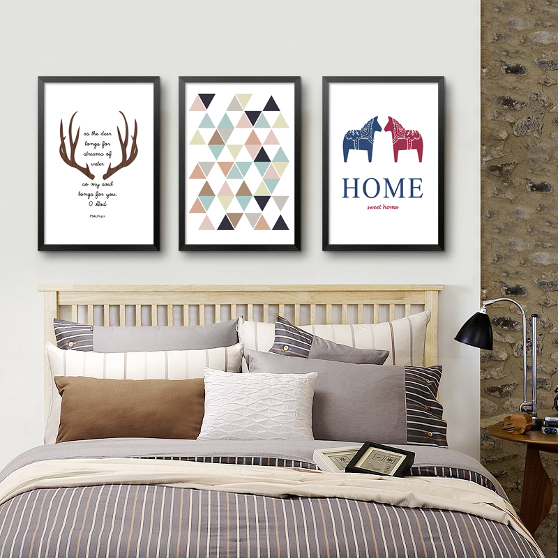 Chapters Home Decor: Nordic Animals Poster Canvas Geometric Minimalist Letters