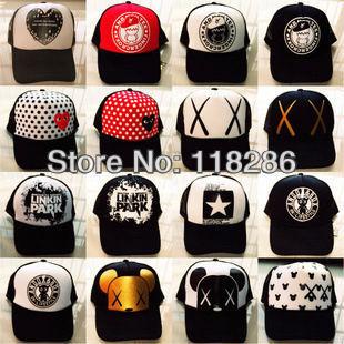 Fashion  baseball cap 21 designs mixed Hip-hop sports cap street dance hip-hop cap for boy and girl shipping free