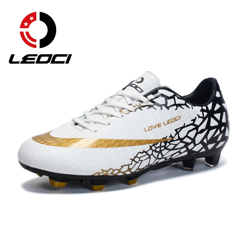 ad6922ba9ca Men Football Shoes for Training Games 33 to 45 Long Cleats Kids Children  Boy AG FG