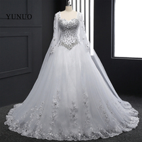 Real Photos Wedding Dresses Custom Made Lace Full Appliques Stunning Beading White Elegant Sexy Long Hot Sale Bridal Gowns