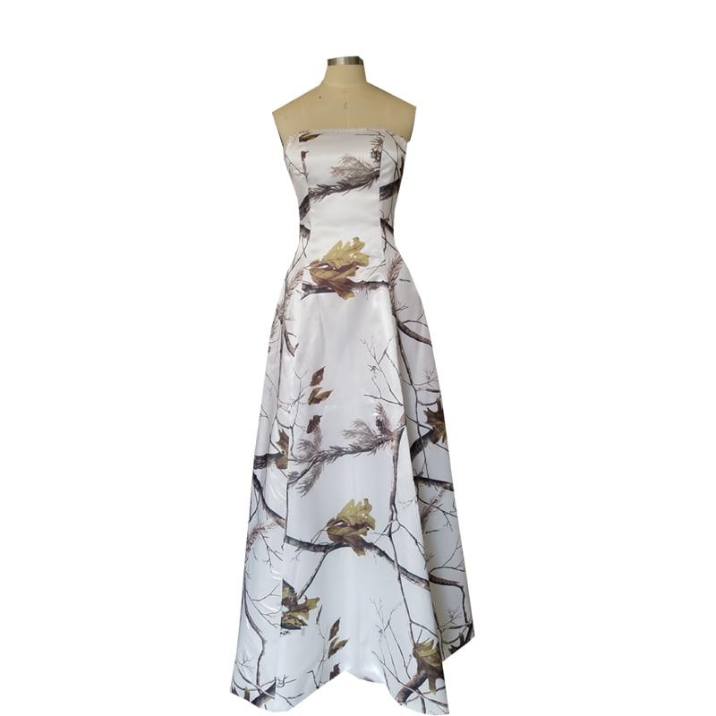 Strapless Print Realtree White Camo Prom Dress 2017 Ball Gowns Vestidos De Festa Custom Make Size 0 Or Plus Size Free Shipping Online Discount