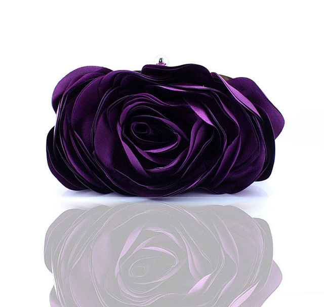 Noble Elegant Women Cosmetic Bags Exquisite Socialite Bridal Wedding Party  Bag Japan Korean Style Solid Flower Lady Makeup Bags a378921dfc9b