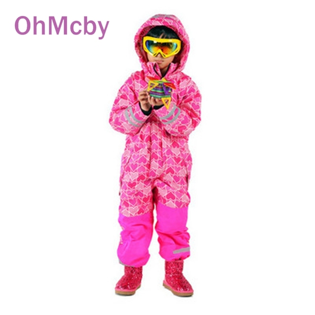 Winter Boys Romper Clothes Active Children Ski Jumpsuit Hooded Thicken Warm Down Parkas for Christmas Boy Girl Ski Coverall