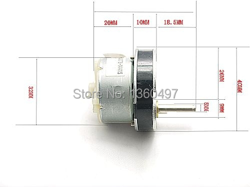 40mm 12V 200RPM Torque Gear Box Motor New